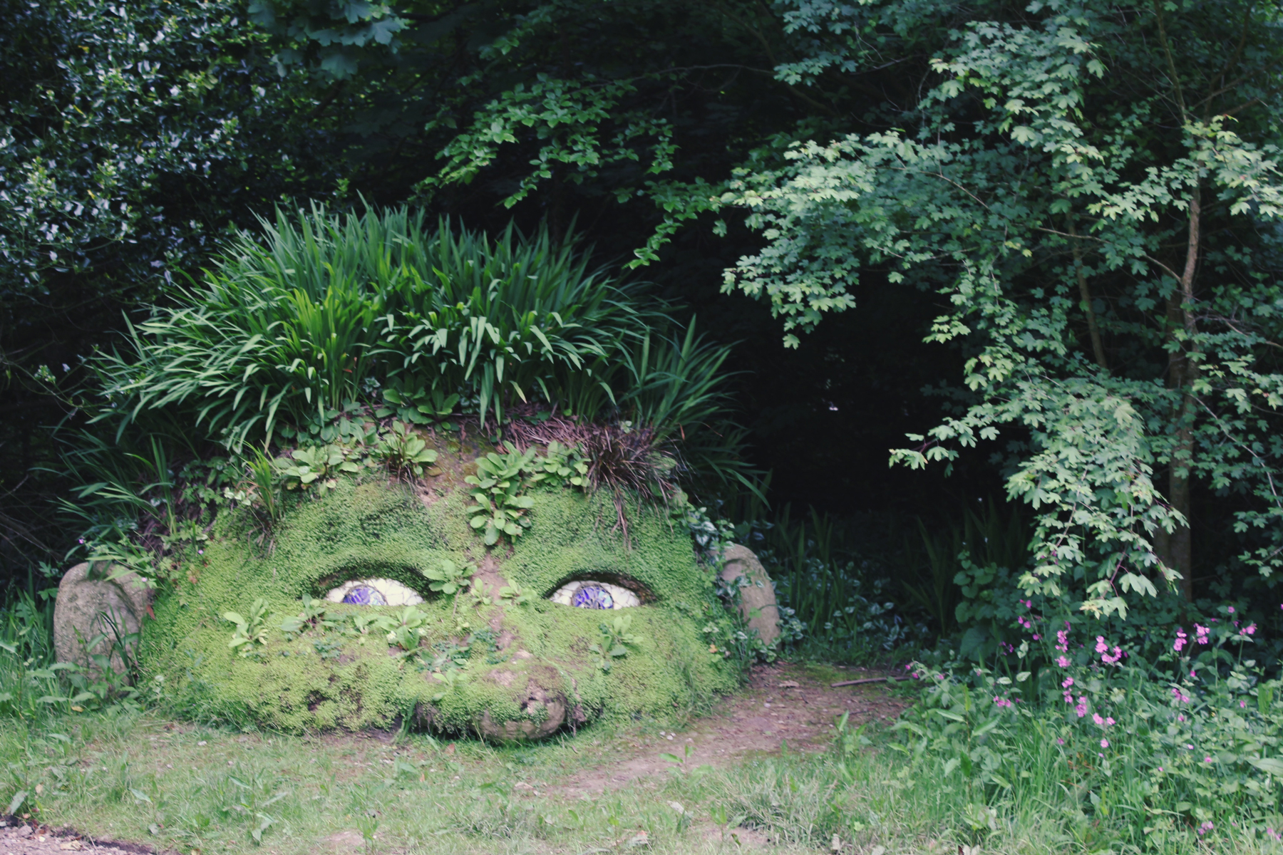 Peek a Boo Statue, Lost Gardens of Heligan, Cornwall