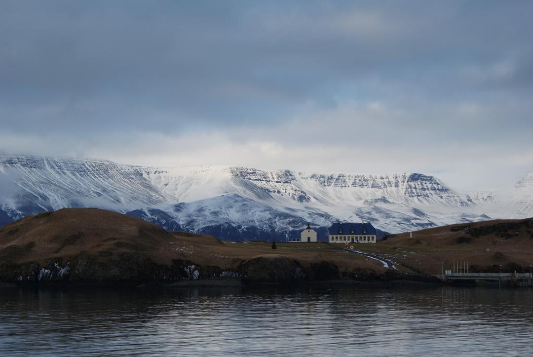 Coastline in Faxafloi Bay, Iceland