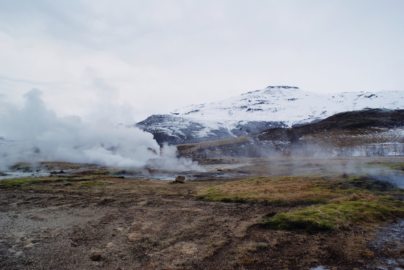 Haukadalur Geothermal Field in Iceland