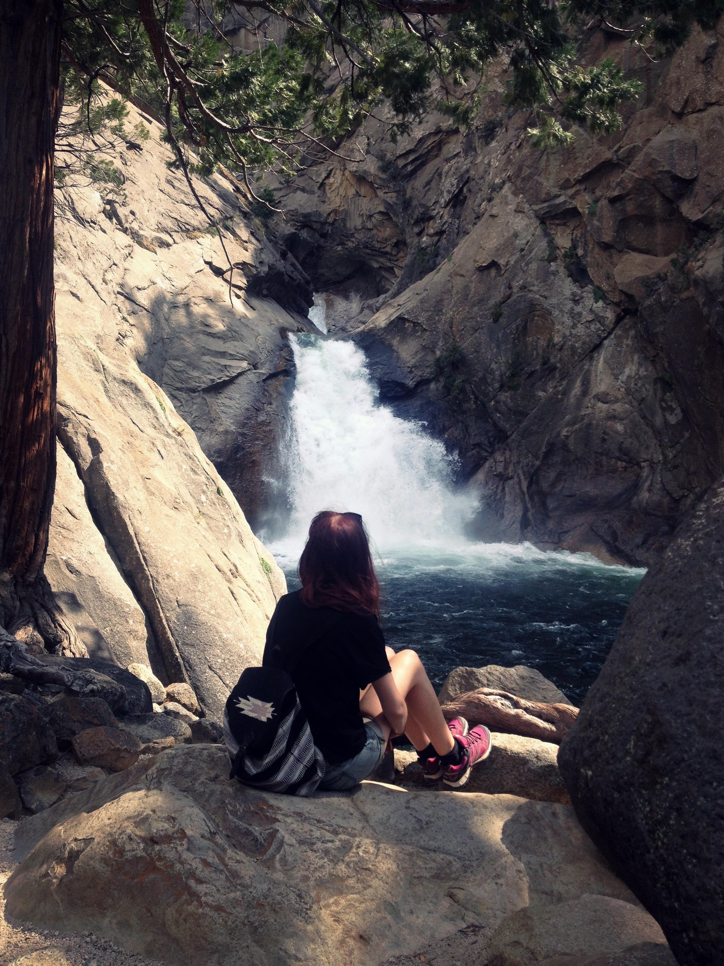 Waterfall in Kings Canyon California