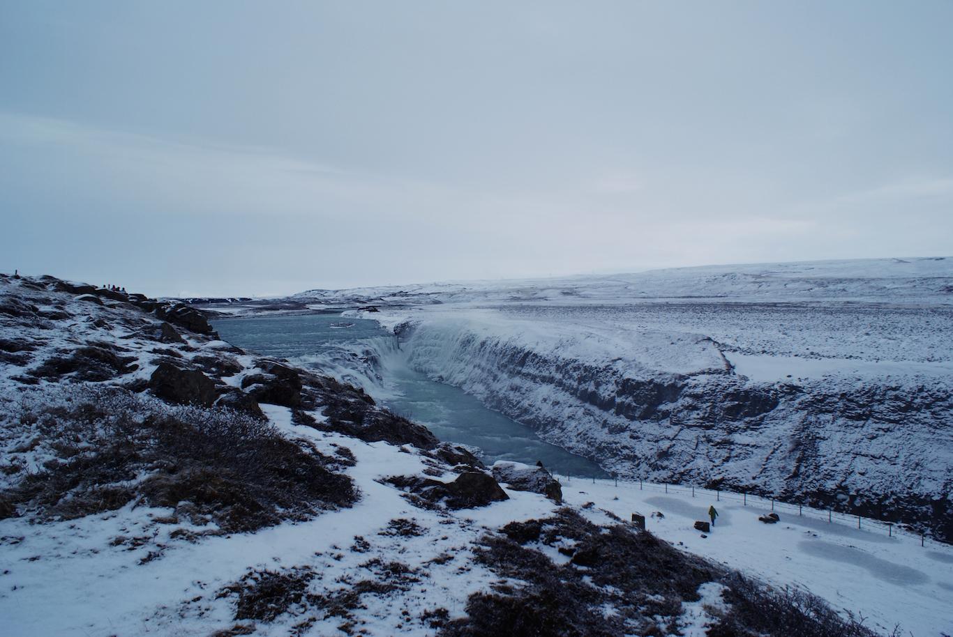 Iceland waterfalls in the winter - Gulfoss