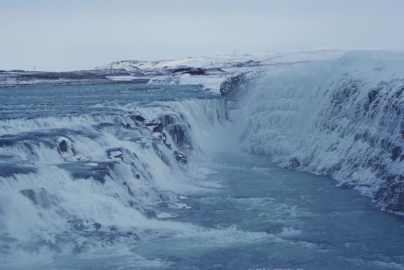 Iceland Waterfalls, Gulfoss in Winter
