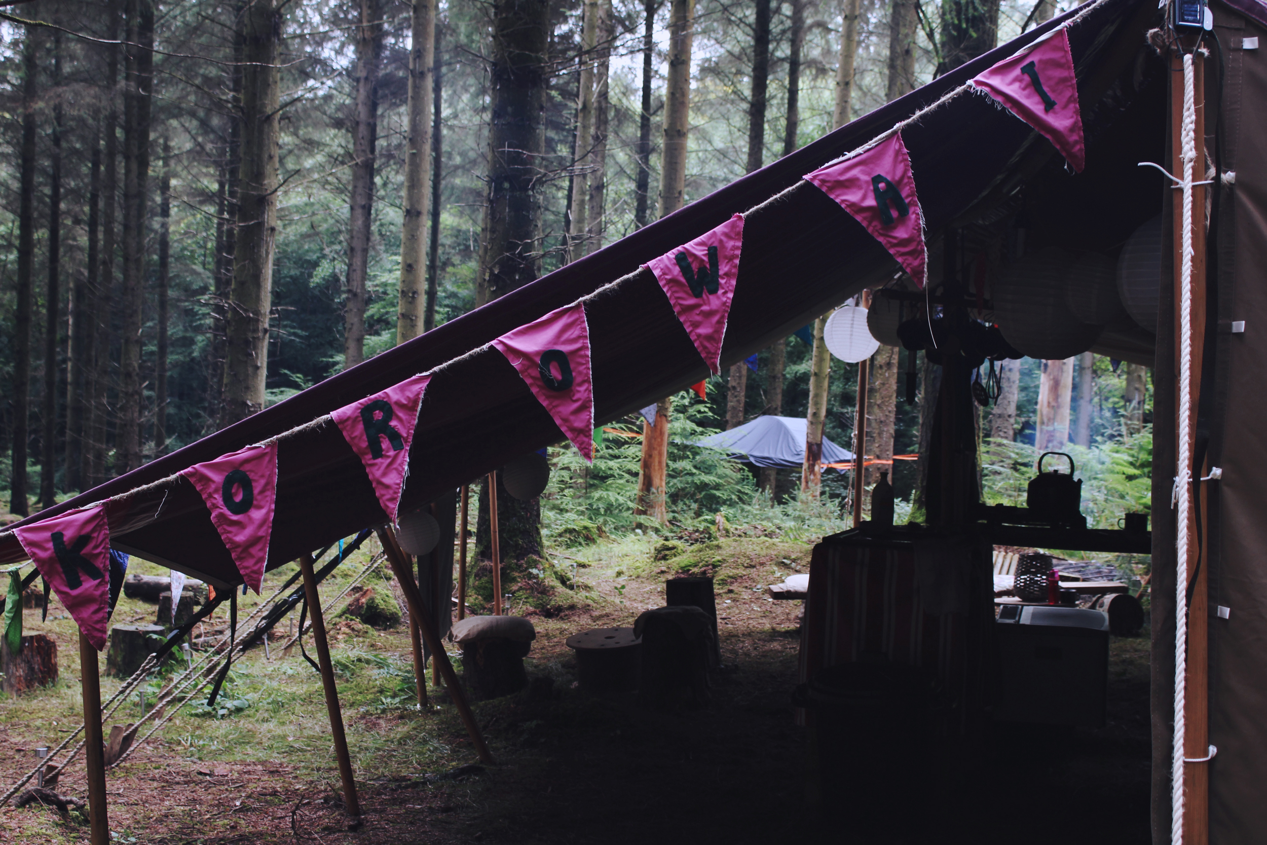 Korowai Camping, Haldon Forest