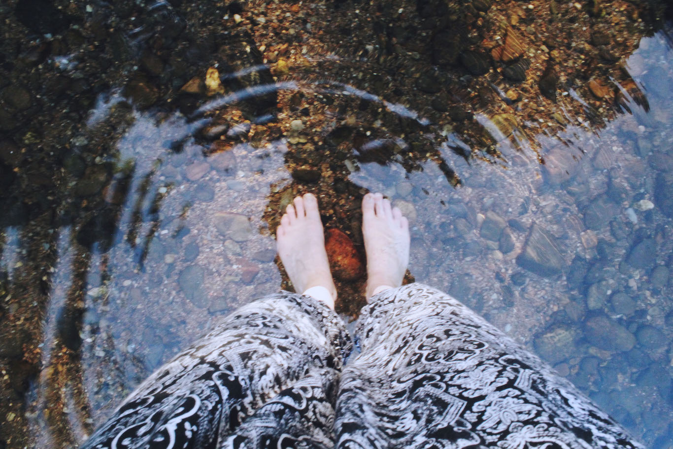 My feet in the River Dart, Devon
