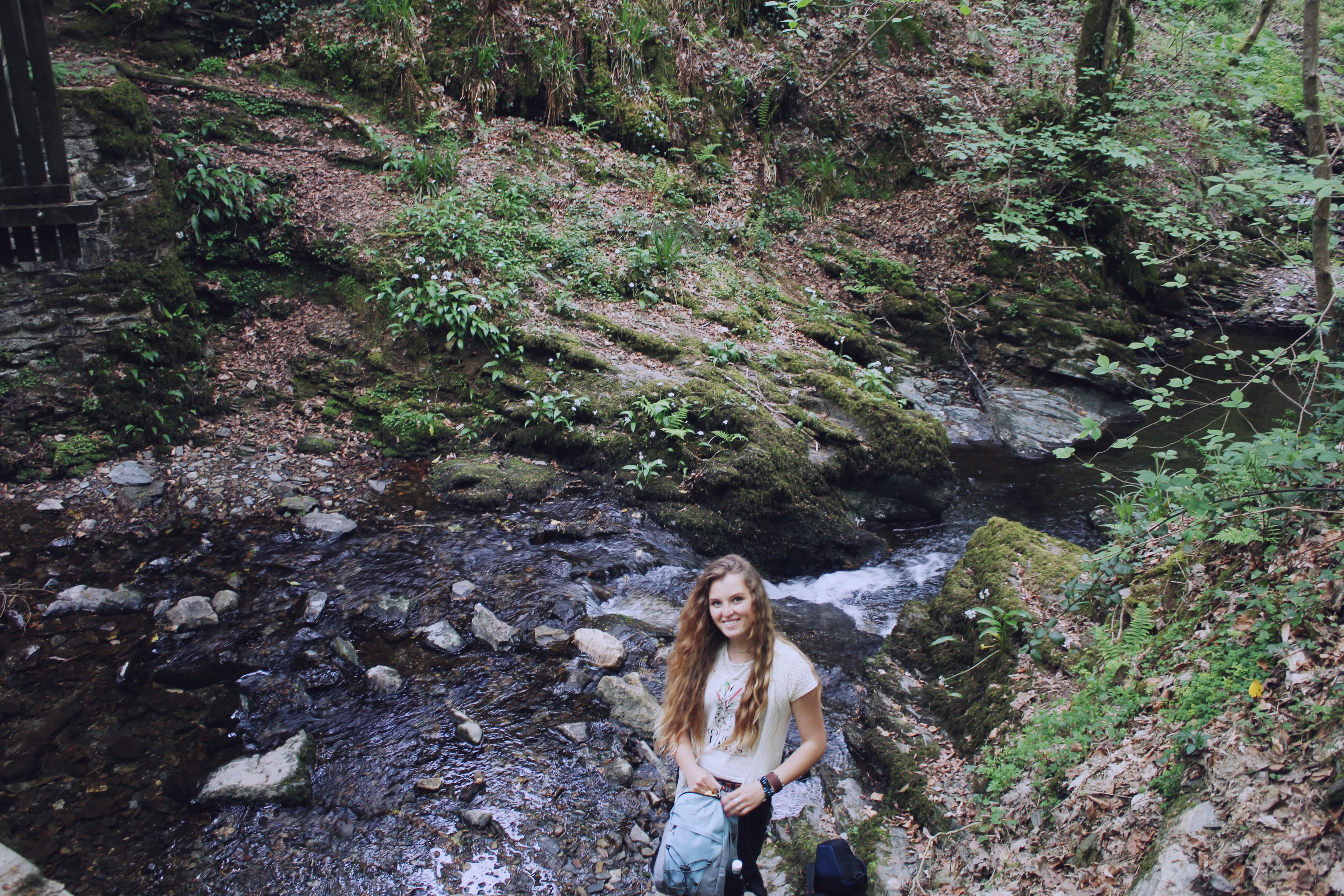 The gorgeous Sarah during our walk at Lydford Gorge