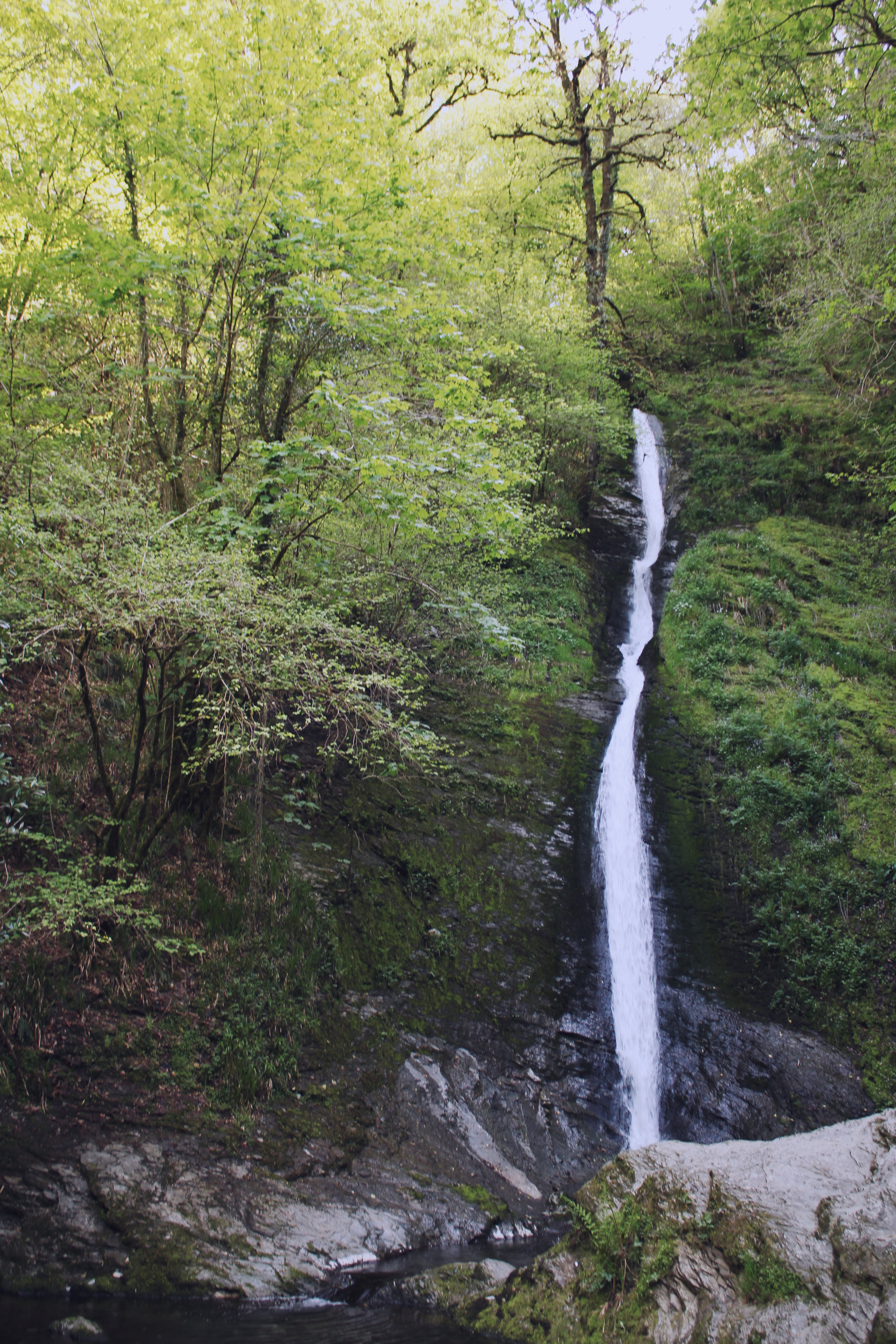 The White Lady waterfall, at Lydford Gorge, Devon