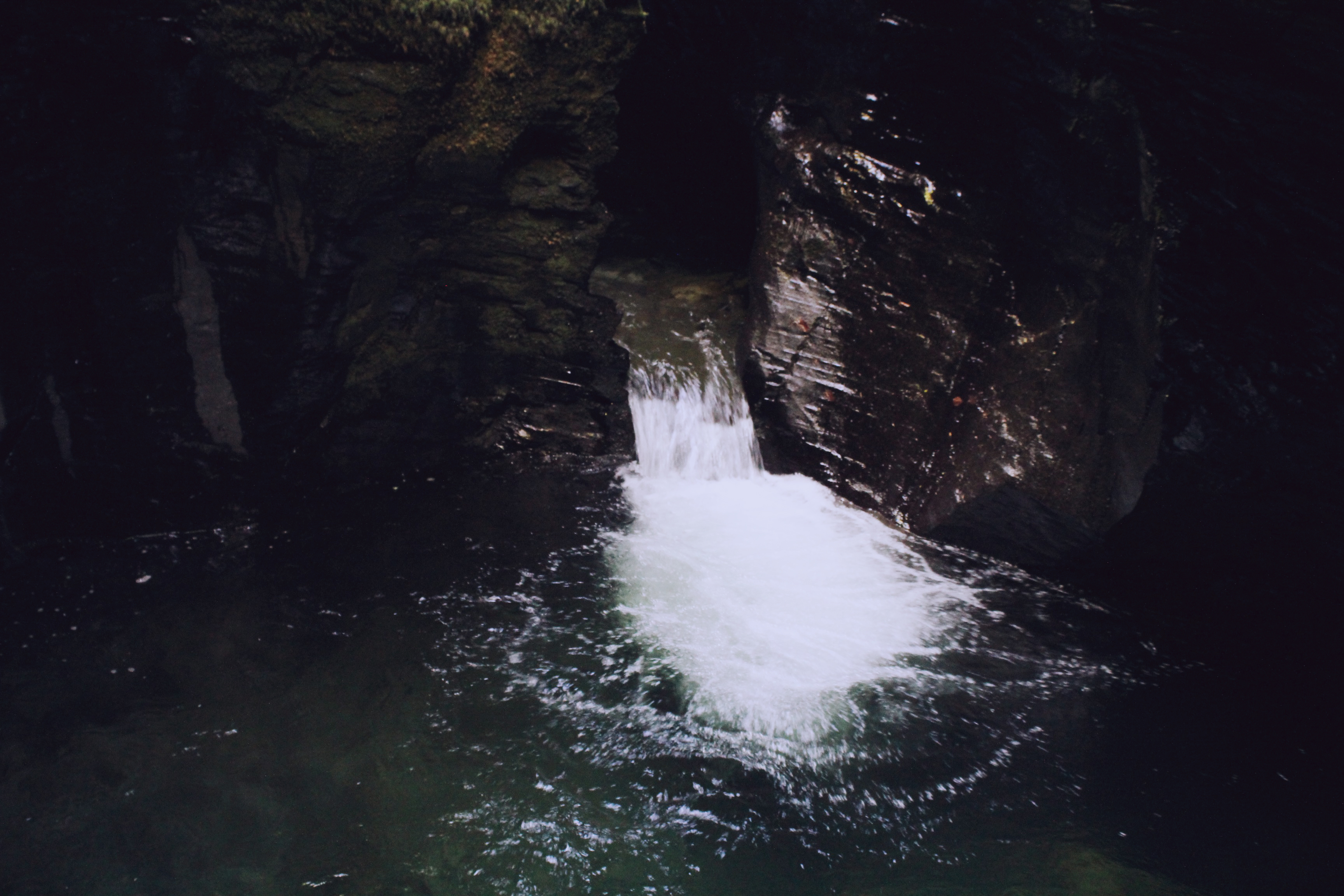 Devil's Pool waterfall at Lydford Gorge, Dartmoor