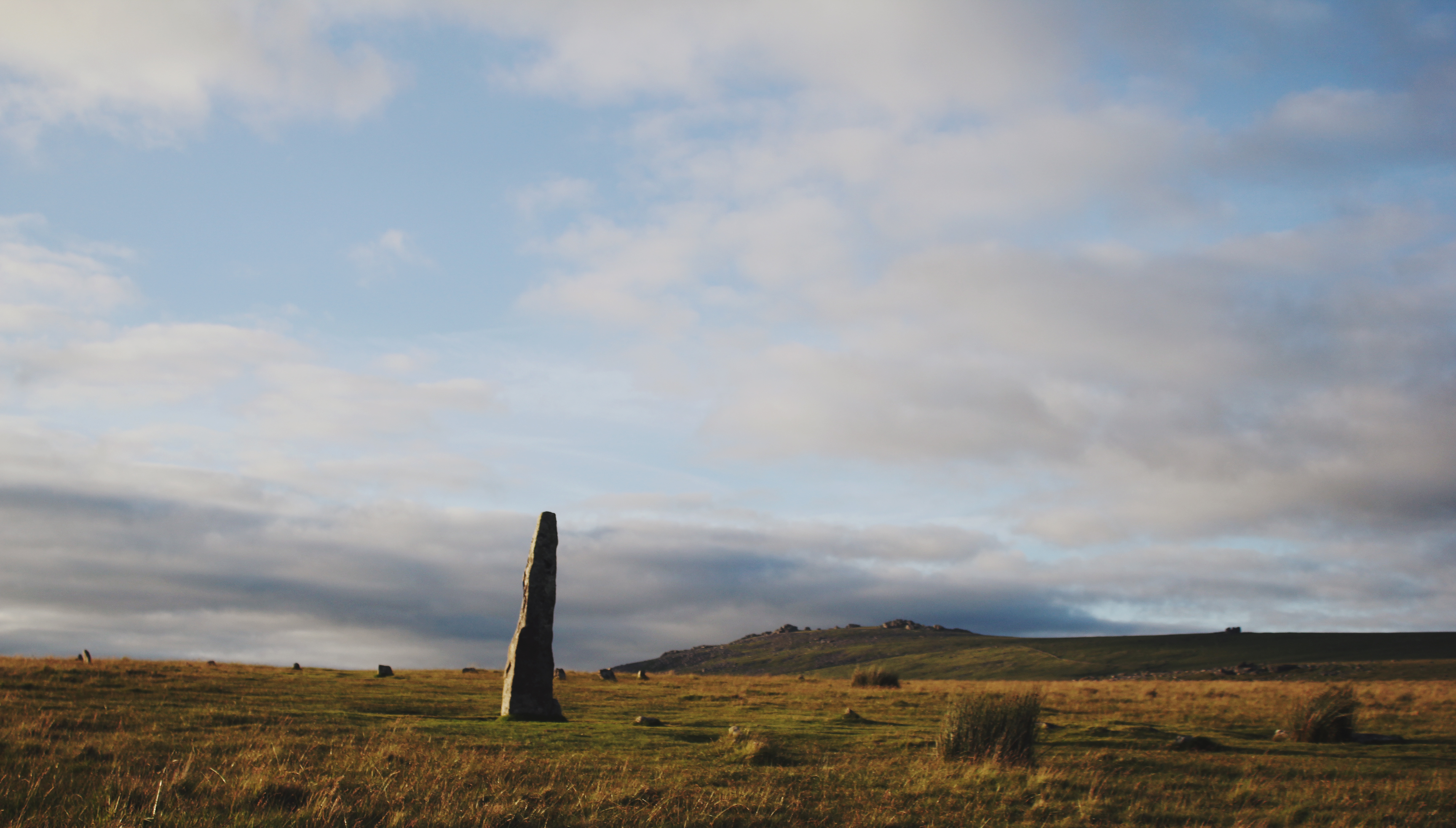 The Menhir, or Standing Stone, at Merrivale Stone Circle
