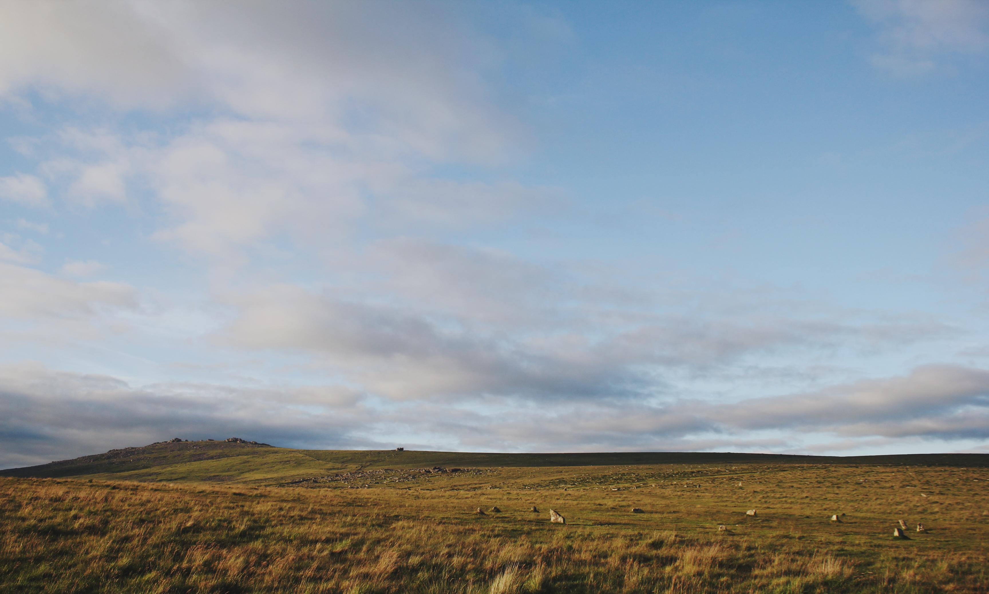 Sunset at Merrivale Stone Circle, Dartmoor