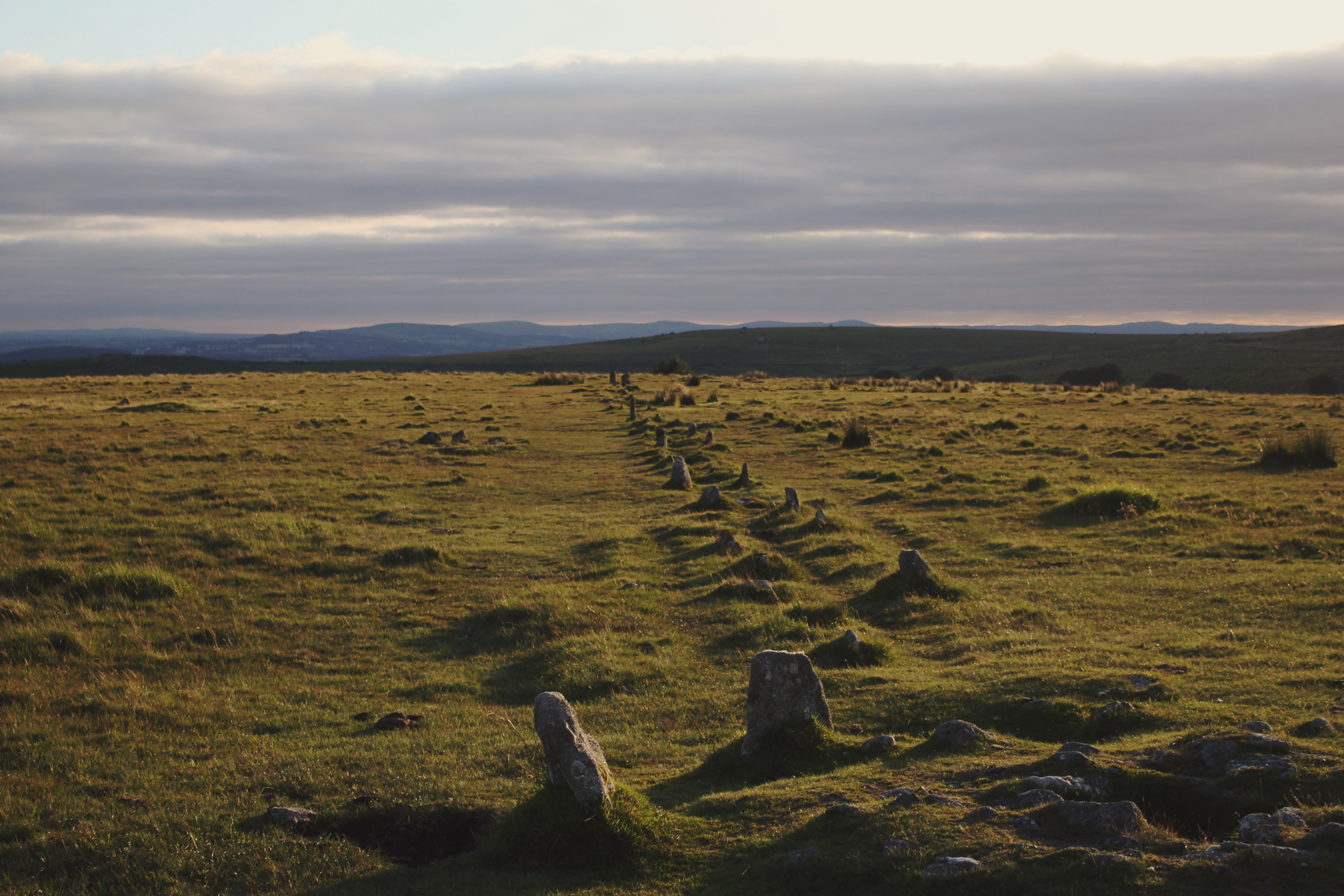 Merrivale Stone Row, Dartmoor - the most complete neolithic stone row in the UK