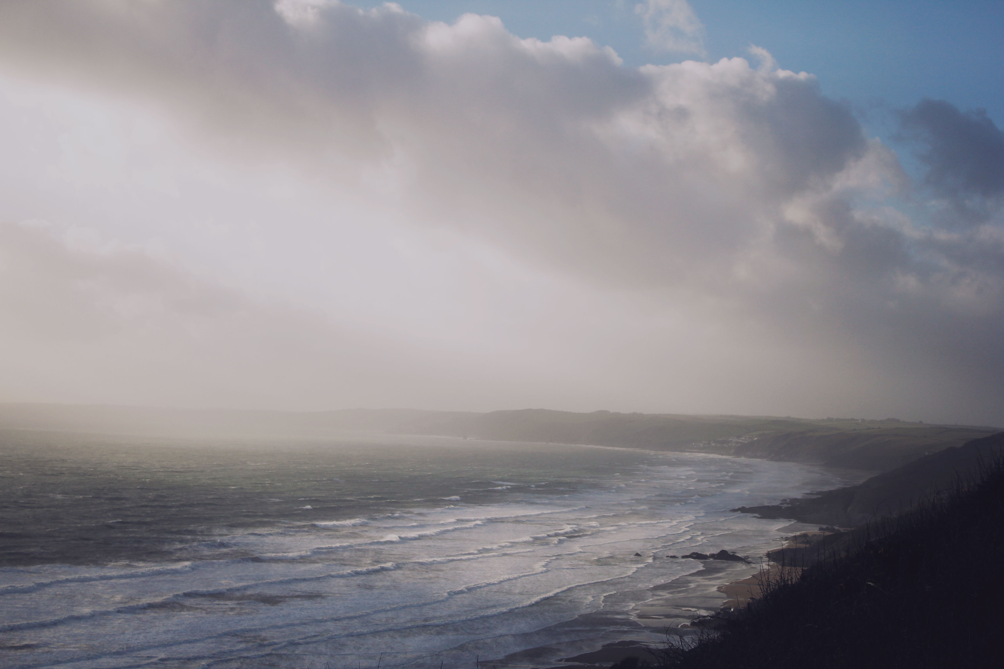 View from the cliffs over Whitsand Bay, Cornwall