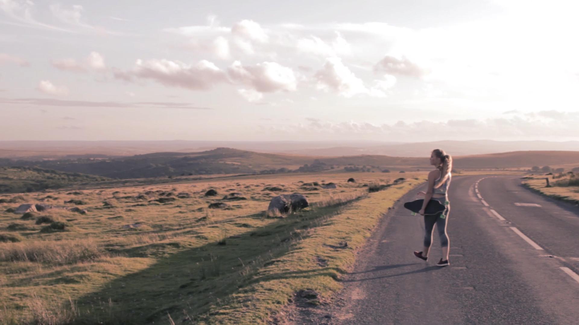 Longboarding Dartmoor at Sunset