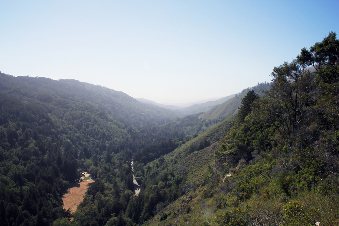Big Sur Valley from Pfeiffer State Park Viewpoint