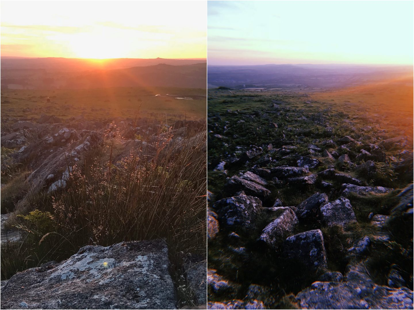 Sunset on Dartmoor