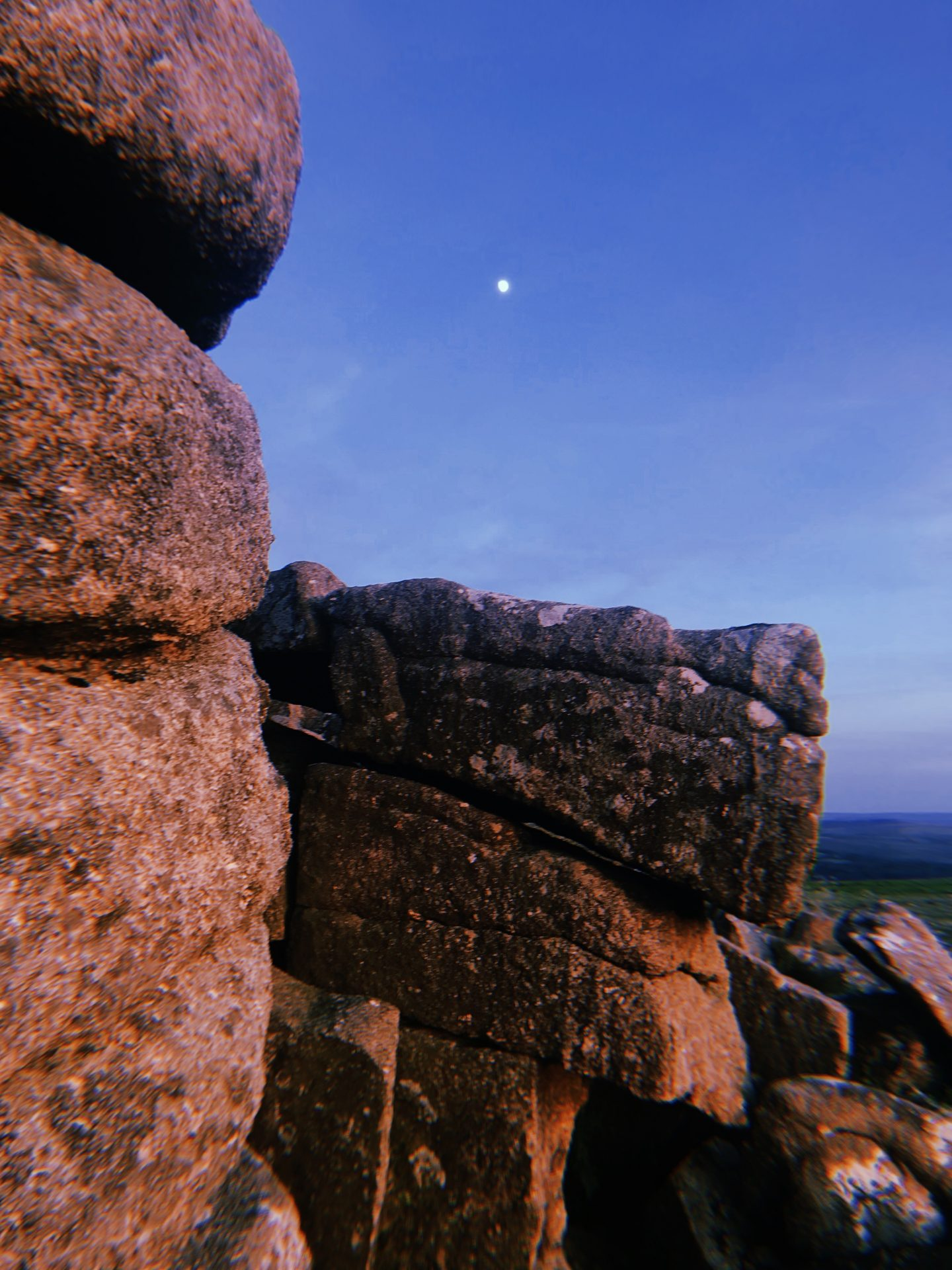 Moonrise on Dartmoor