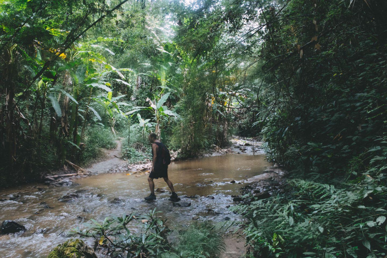 Trekking to Mae Yen Waterfall, Pai